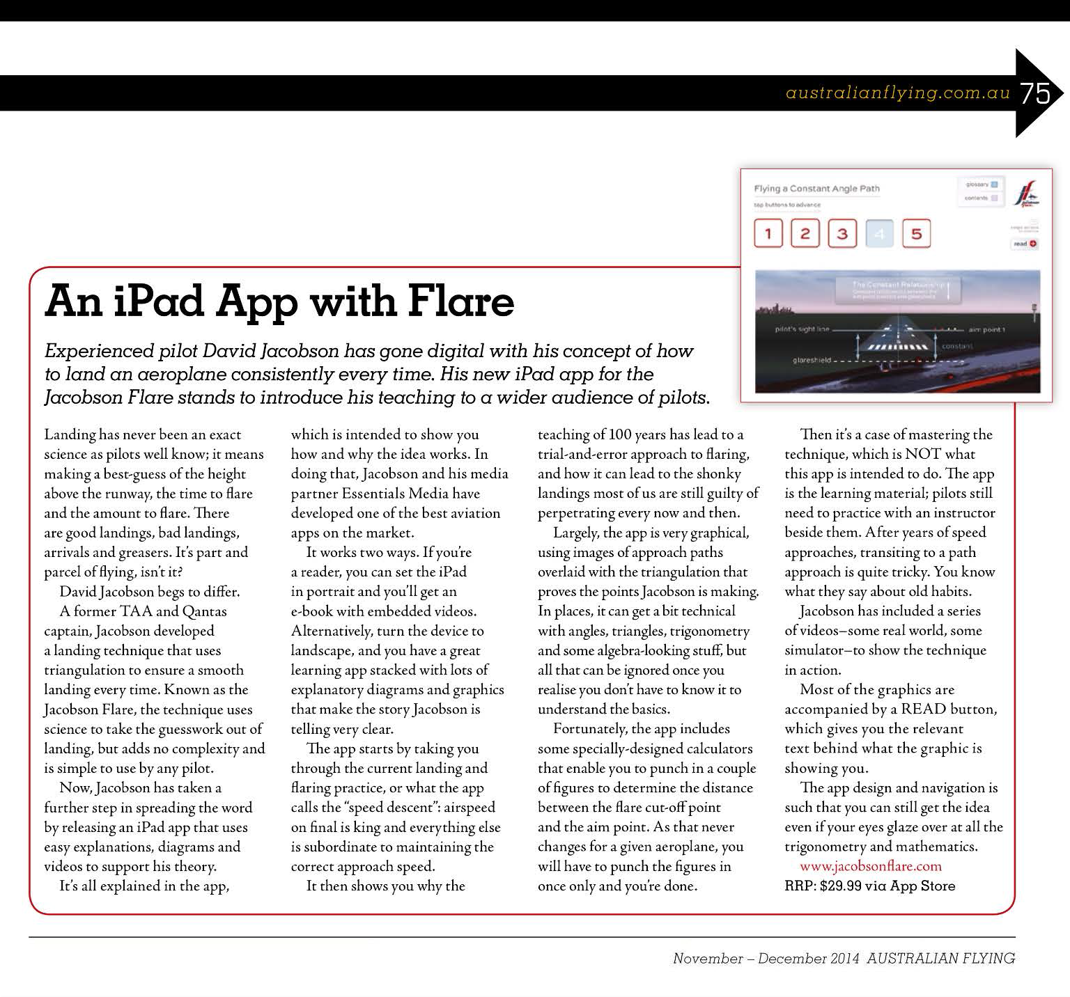 AF iPad App with Flare141112