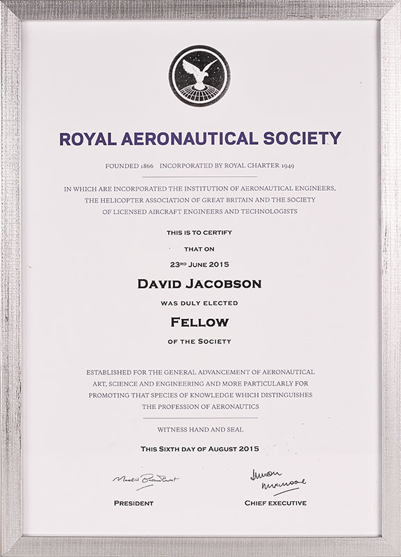 Royal Aeronautical Society Fellowship